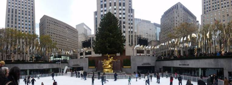 Rock Plaza ice rink.