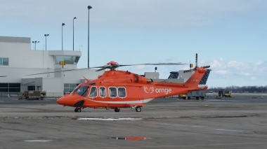 Ornge helicopter.