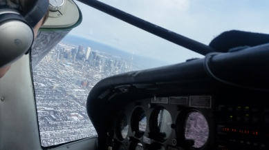 From cockpit.