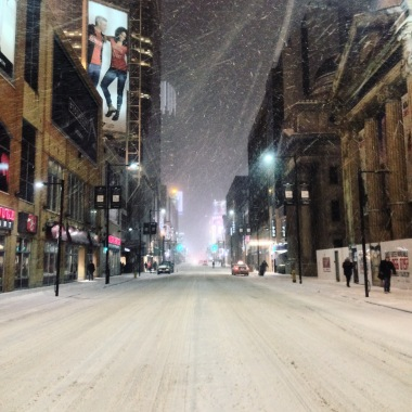 Yonge Street, blanket of snow.