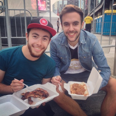 Rib Fest at Yonge and Dundas.